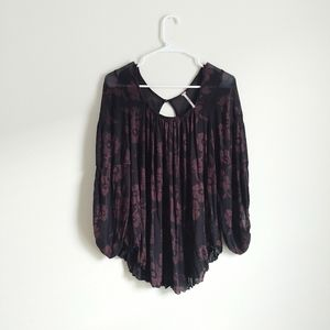Free People Floral Print Top Size Small